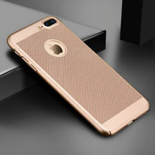 Ultra thin Shockproof Case Breathing Mesh Hole Cover For iPhone 5 6S 7 8 Plus X