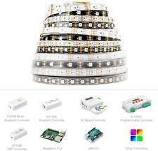 1M 5M RGB LED Raya WS2815 30/60/144 Leds/m 5050 SMD LED 12V doble píxeles de señal
