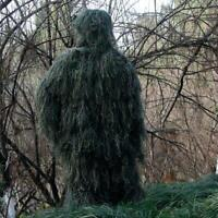 3D Ghillie Suit Jungle Leaf Camouflage Woodland Sniper Hunting Pants Jacket Tops