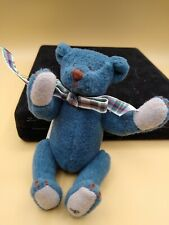 Ganz Cottage Collectibles Miniature BlueBeary 1995 By Lorraine Blue Beary Bear
