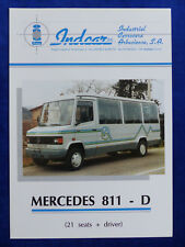 Indcar mercedes 811 d autobús 21 seats-folleto brochure españa inglés