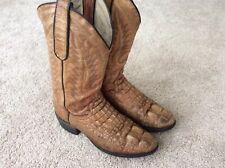 Men's Size 7 1/2D Dan Post Alligator Cowboy Boots Vintage Distressed Hornback