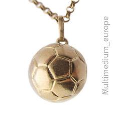 333er Gold Fussball Charm Anhänger u. Kette 8ct pendant football soccer