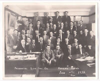 """Vtg 1938 Prudential Life Insurance Group Photo-Reading PA-Press Picture-8 x 10"""""""
