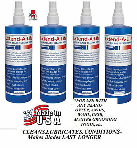4-CLIPPER Trimmer BLADE RINSE WASH CLEANER SPRAY Lube*For ANY Oster,Andis,Wahl