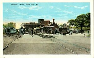 1920's The Southern Railroad Depot in Rome, GA Georgia PC