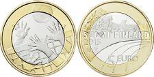 "Finland 5 euro 2015 UNC VOLLEYBALL ""SPORTS COINS"" BIMETALLIC"