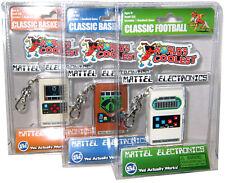 Mattel Electronics World's Smallest/Coolest 3 lot Baseball Basketball Football