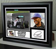 Lewis Hamilton 2016 Silverstone F1 Winner Mercedes Framed Canvas Print Signed