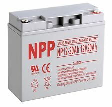 NPP NP12-20Ah 12V 20Ah AGM SLA Battery Replaces 51814 6-dzm-20  lcx1220p