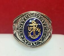 NEW STERLING SILVER UNITED STATES NAVY RING USN SIZE 13    20.9 GRAMS