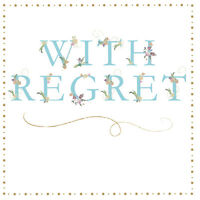 "Regret Card ""Flower Design"" Square Size 4.75 X 4.75 Inch EFRE170"