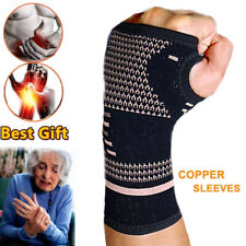 Copper Wrist Hand Brace Support Fit Carpal Tunnel Splint Sprain Gifts Outdoor