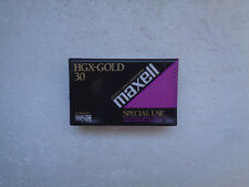 Cassette Vierge pour Camescope VHS-C MAXELL HGX-GOLD 30 - VHS C Neuf
