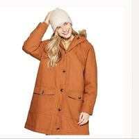Women's Universal Threads NWT Hooded Parka Jacket Burnt Orange Size XXL