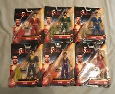 "NEW SHAZAM MOVIE 2019 ACTION FIGURES COMPLETE SET OF 6 DC MATTEL 6"" INCH"