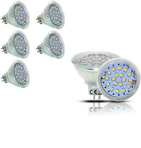 LED MR16 Spot Lights Warm White 5W = 45W  GU5.3  Bulbs AC/DC 12V  450LM  6pack