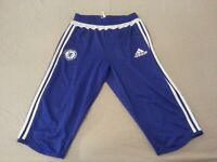 Mens adidas Chelsea Pants S Small Blue Athletic Gym Workout 25x15