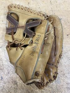 VINTAGE 1960's RAWLINGS Big 8 Lheel Double X Web Glove Right-Handed thrower