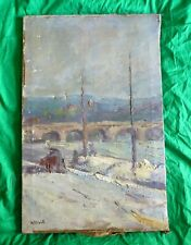 Auguste Apelle - French impressionist oil painting on canvas - Sevres - France