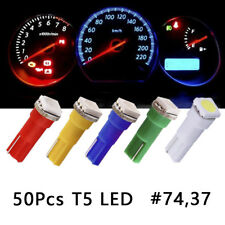 50Pcs T5 74 37 LED Intrument Dash Indicator Light Bulb Panel Gauge Cluster lamps