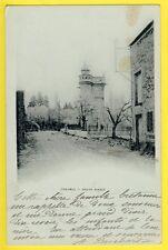 cpa 77 - CHAUMES EN BRIE en 1903 (Seine et Marne) Route d'ARCY Donjon Tourelle