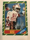 Jerry Rice 1986 Topps Football Rookie Card RC 161 49ERS Centered, Sharp Corners