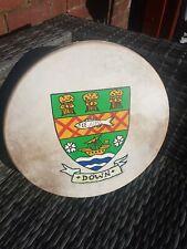 "Vintage Malachy Kearns Down GAA  Bodhran 14""  Irish Drum"