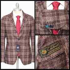 Mens SARTORE Plaid Loro Piana Zelander Wool Alpaca 2Btn Coat Jacket 48 38 R NWT!