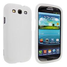 White Snap-On Hard Case Cover for Samsung Galaxy S3