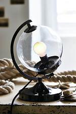 Náutica industrial Retro Globo de cristal negro y claro Tabla Escritorio Lámpara de Oficina