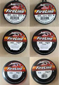 8lb Fireline Beading Thread, Crystal & Smoke, 50 yards, 125 yards & 300 yards