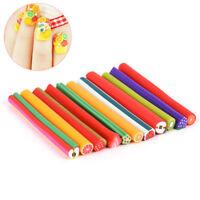 50Pcs Nail Art Decorations Fimo Stick Rods Polymer Clay Stickers Tips Beauty Ju