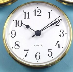 MEGA-QUARTZ 100mm BEZEL Quartz Clock  insert movement White Arabic dial