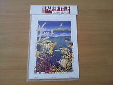 ART PRINTS / PAPER TOLE KIT  -  TROPICAL FISH plus free gift