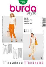 BURDA SEWING PATTERN LADIES SLENDER BASIC TROUSERS 10 - 22 7062