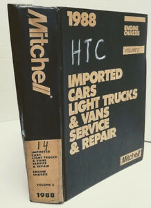 1988 Service Repair Manual Imported Car Truck Vans Engine Chassis Vol 2 Mitchell