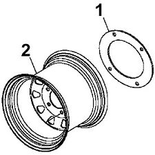 John Deere Wheel Weight Adapter Ring 1 Bm21497