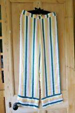Anthropologie Asceno Silk Striped Pyjama Bottoms Trousers Sz Small RRP £210!
