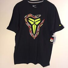 NEW Nike Kobe VIII 8 Christmas Day T-Shirt Men's sz Large Xmas Black 588588-010