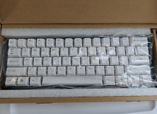 New in box! KC60 60% mechanical keyboard, Cherry MX Clear, white LED, PBT caps