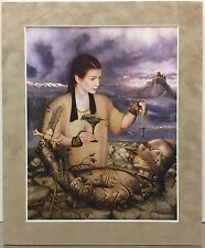 """""""Sorcery"""" By Juan Manual Fuentes Del Ama Matted Print Fantasy Gothic Medieval"""