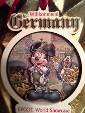 Disney Epcot Germany Pavilion Mickey Ornament, NEW