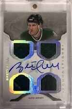BRETT HULL 2014-15 UD THE CUP FOUNDATIONS AUTO JERSEY 05/15 STARS HOF QUAD RELIC