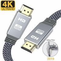 Câble HDMI 2.0 Plat 4K vers HDMI 2m Haute Vitesse en Nylon Tressé 18Gbps 4K@60Hz