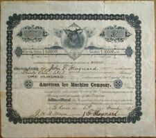 American Ice Machine 1897 Stock Certificate - St. Louis, MO #17