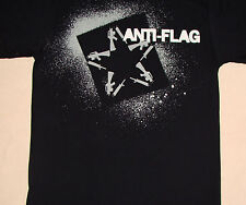 Anti-Flag Stencil Rifles Star Logo Black Shirt NEW S