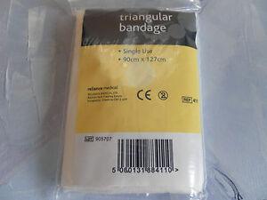 First Aid Triangular Bandage Non Woven - Quantity 10