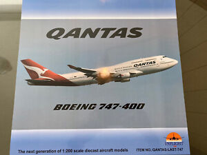 *FREE POST* Inflight 200 VH-OEJ Qantas 747-400ER Wunala with Coin 1:200