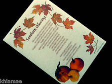 HALLOWEEN / SAMHAIN BLESSING Parchment Poster - Book of Shadows Wall Altar Art